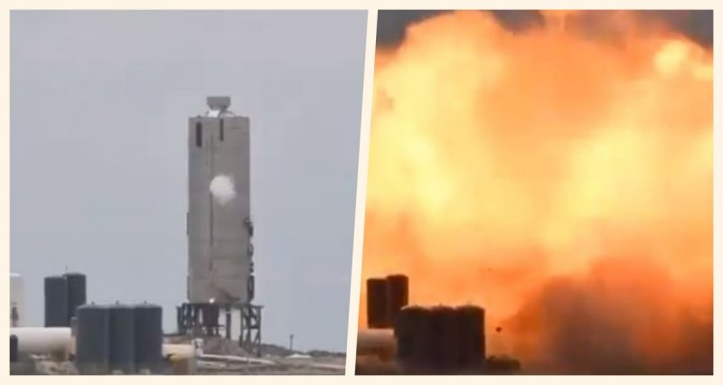 Explota durante pruebas la nave SN4 de SpaceX (VIDEO)
